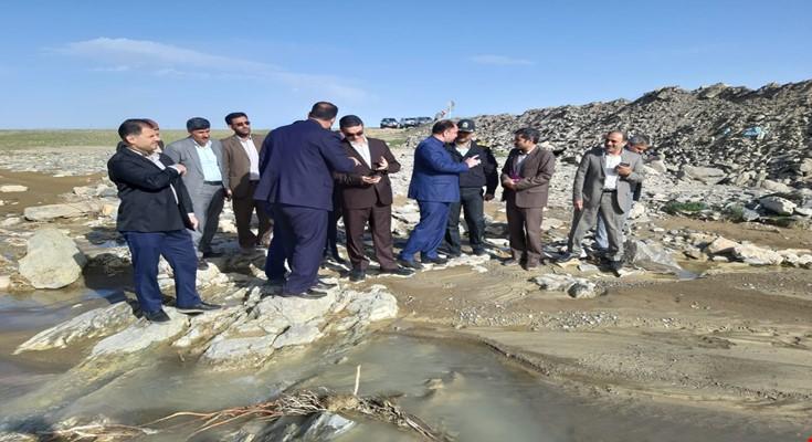 بازدید میدانی استاندار از میزان خسارات وارده به سدها و بندهای انحرافی شهرستان کمیجان